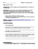 Elementary Science WebQuest - Observation Skills in Science