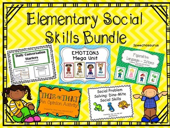 Elementary Social Skills Bundle
