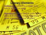 Elements of Drama Powerpoint--34 Slides