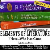 """Elements of Literature Vocabulary, Literary Terms """"I Have/"""