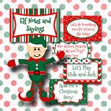 Elf on the Shelf Notes and Sayings - Christmas Elf Printables