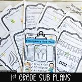 Sub Plan Packet - First Grade: Math & English Language Art