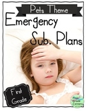 Emergency Sub Plans Binder- First Grade {Pet Theme- 1st Quarter}