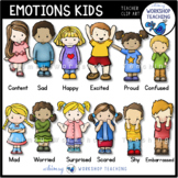 Emotions Kids Clip Art Set - Whimsy Workshop Teaching