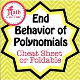 End Behavior of Polynomials Cheat Sheet or Foldable