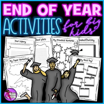 End Of Year Activities for Teens! No prep: just print and go!