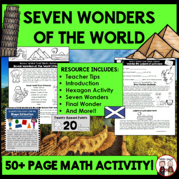 End of School Year Math Activity: Seven Wonders Vacation (55 pages)