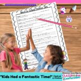 End of School Year Partner Skit