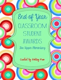 End of School Year Student Awards for the Classroom