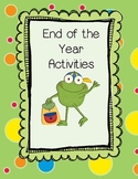 End of Year Activity - Memory Book, Yearbook, or Newsletter