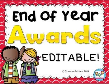End of Year Awards EDITABLE