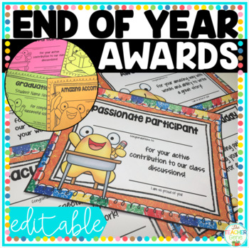 End of Year Awards (Editable/Customizable) The Blobby Student Awards