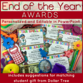 End of the Year Awards with Matching Gift: Editable PowerP