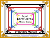 End of Year Certificates, Graduation Diplomas or Awards of