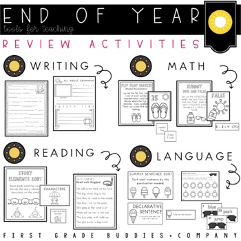 End of Year Fun (A Reading, Writing, Language, and Math Activity Packet)