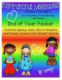 End of Year Packet: Grades K - 5