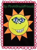 End of Year Summer Sun Glyph Craft Activity