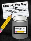 End of the Day Jar- Questions Cards for Community Building