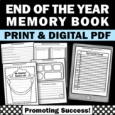 End of the Year Activities Memory Book Reflection Worksheets