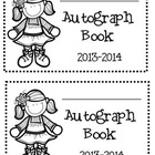 End of the Year Autograph Book  dates:  2014-2015, 2015-20
