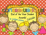 End of the Year Award Certificates {Editable}