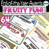 End of the Year Award Certificates--Fruity Fun!