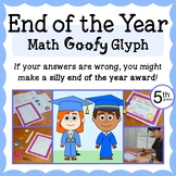 End of the Year Math Goofy Glyph (5th grade Common Core)
