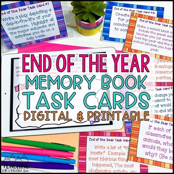 End of the Year Memories Task Cards { End of the Year Activities }