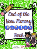 End of the Year Poetry Memory Book