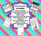 End of the Year Printables & Activities - Award Certificat