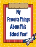 End of the Year Scrapbook- My Favorite Things About This Year
