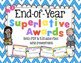 End of the Year Superlative Awards - Editable