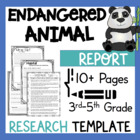 Endangered Animal Research Report Project Template! Plus K