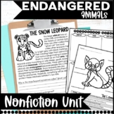 Endangered Animal Unit: Common Core Aligned