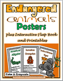 Endangered Animals Posters plus Interactive Flap Book and