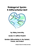 Endangered Species: A Differentiated Unit