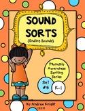 Ending Sounds  {Phonemic Awareness Sorting Series, Set #8}