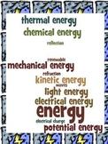 Energy Study Guide and Quiz- Third Grade