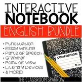 English Language Arts Interactive Notebook BUNDLE (flash c