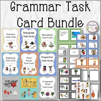 English Language Arts Task Card Bundle