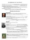 Enlightenment Thinkers (Age of Reason, Locke, Montesquieu,