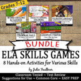 Entire Year of ELA Games Activities -Vocabulary, Grammar,