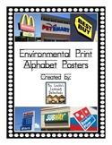 Environmental Print Alphabet Posters