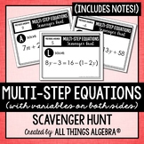 Multi-Step Equations (Variables on Both Sides): Scavenger Hunt