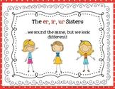 "'Er, Ir, Ur"" Sisters Poster"