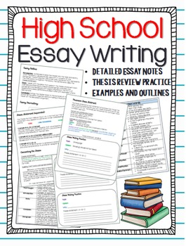 Essay Writing Review: Notes, Organizers, Examples, & Handouts