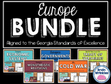 Europe Unit BUNDLE - Geography, History, Government, Econo