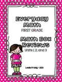 Everyday Math: First Grade Math Box Reviews (Units 1, 2, and 3)
