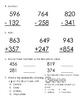 Everyday Math, Grade 3, Unit 3 Review Worksheet