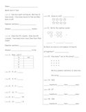 Everyday Math Unit 6 Mixed Common Core Skills Test